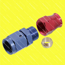 "AN6 6AN Female to 3/8"" 9.5mm Hardline Tube Fitting Adapter Red Blue 1Yr Warranty"
