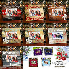 Personalized CHRISTMAS HOLIDAY PICTURE PHOTO FRAME Wood 7 Designs NEW for 2015