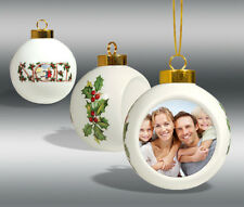 Dye-Sublimation  Ceramic Christmas Ball Ornament  *48 COUNT*