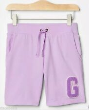 Girls Gap Logo Bermuda Sweat Shorts Lilac (Size X Large 12 Years)
