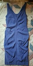 nwt $355  NICOLE MILLER Silk Spandex Ruched Sexy Wiggle Dress sz 0