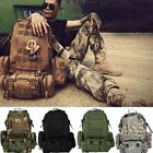 US 50L 3D Molle Assault Tactical Outdoor Military Rucksack Backpack Camping Bag