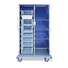 """Enclosed Cart with Baskets Tall I.V. with Dividers  Double Wide  44""""W x 29""""D ..."""