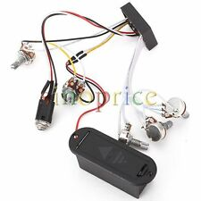 Active Preamp Piezo 3 Band Equalizer EQ Harness for Electric Guitar Bass