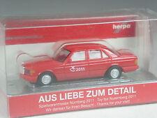 selten: Herpa Sondermodell IAA 2011 Mercedes 500 SEL rot in OVP