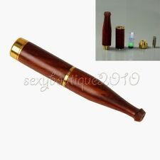 Smoking Tobacciana Natural Ebony Wood Double Filter Cigarette Holder Filtration