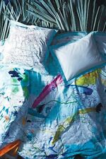 LAST ONE Anthropologie TRADEWINDS World Map King Duvet Cover NEW