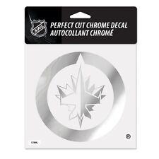 """Winnipeg Jets 6""""x6"""" Chrome Auto Decal [NEW] NHL Car Emblem Sticker Wincraft"""