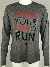 NEW Athletic Recon Trust Your Feet Run T Shirt Mens Large Cotton Blend