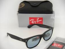 AUTHENTIC RAY-BAN NEW WAYFARER RB 2132 622/30 55MM RUBBER BLACK / SILVER MIRROR
