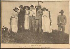 MARTINIQUE LE MONT PELE EXCURSION IMAGE PRINT 1902