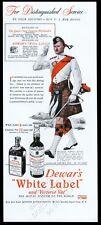 1943 Queen's Own clan Cameron Highlander art Dewar's Scotch whisky print ad