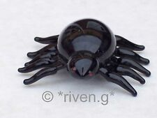SPIDER ORNAMENT@BLACK WIDOW@Glass SCORPION@Collectable Gift@SCARY@ARACHNOID