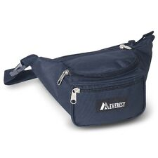 Everest Signature Fanny Pack 044KD cotton-poly/Key Clip. Navy/New
