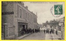 cpa RARE 78 - LES ESSARTS le ROI Rue de la POSTE Épicerie Mercerie L. DAUPHIN