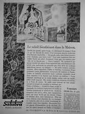 PUBLICITÉ 1928 TENTURES TEKKO ET SALUBRA LAVABLE INALTÉRABLE - ADVERTISING