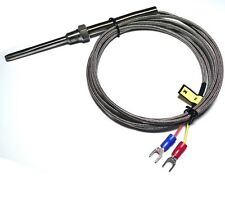 "K Type Thermocouple Probe High Temperature Sensors with 1/8"" NPT Threads ( 2m)"