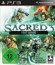 Sony PS3 Sacred 3 III First Edition NEU / OVP in Folie mit Bonus Download Codes