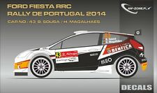 DECALS 1/43 FORD FIESTA RRC #43 - SOUSA - RALLYE PORTUGAL 2014 - MF-ZONE D43301