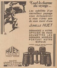 Z8527 Jumelle HUET - Paris - Pubblicità d'epoca - 1931 Old advertising