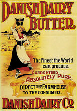 Danish Dairy Butter Direct from the Farmhouse  Print Poster