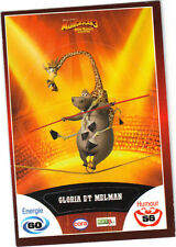 Vignette de collection autocollante CORA Madagascar 3 n° 34/90 -Gloria et Melman