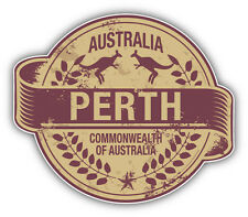 "Perth City Australia Grunge Travel Stamp Car Bumper Sticker Decal 5"" x 4"""