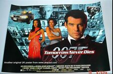 JAMES BOND POSTER TOMORROW NEVER DIES ORIGINAL 1997 STUDIO ISSUED UK  MINI QUAD