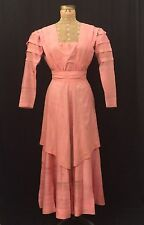 ANTIQUE EDWARDIAN DRESS 1900-1915 DUSTY ROSE, TITANIC,