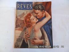REVES N°218 31/08/1950 ROMAN PHOTO DESSINE LE BAL DES AMANTS PERDUS TRICOT   G8