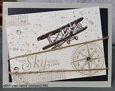 SKY IS THE LIMIT HANDMADE CARD KIT,  STAMPIN' UP!  AIRPLANE,