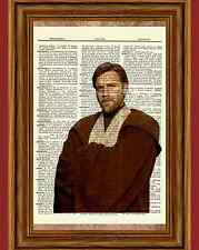 Obi Wan Kenobi Star Wars Dictionary Art Print Book Picture Poster Ewan McGregor