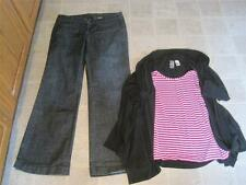J. Crew sz 8 darkwash trouser City Fit jeans & L8ter top M Cute lot j55