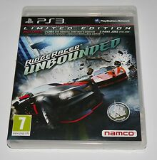 Ridge racer Unbounded Limited edition Game for Sony PS3 Playstation 3