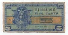 Usa Military Payment Certeficate 5 Cents 1954 Serie 521 Look Scans