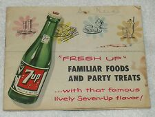 1953 7-Up Party Treats Recipe Book Insert 12 Pages + Cover Vintage Acceptable