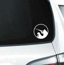 B175 Ducks and Dogs Round Hunting  vinyl decal for car truck
