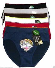 6 pk Mens Seamless Microfiber Bikinis Briefs #SB202 Lot Underwear Tiger L/XL