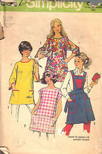 VINTAGE SIMPLICITY SEWING PATTERN #5377  MISSES SET OF APRONS AND POTHOLDER  XL