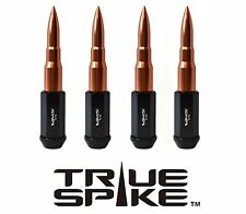 20PC VMS RACING 112MM 12X1.25 STEEL LUG NUTS W/ ROSE GOLD EXTENDED BULLET SPIKES