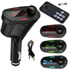 Car Kit MP3 Player FM Transmitter Modulator USB LCD Remote MC