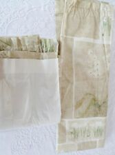 """Custom Made Green Floral Lined Curtain 40"""" x 57"""""""