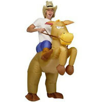 INFLATABLE HORSE RIDING COWBOY COSTUME SUIT-FANCY DRESS