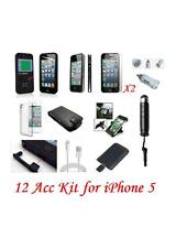 12 X ACCESSORY PREMIUM BUNDLE KIT FOR IPHONE 5 16GB 32GB 64GB Mobile & PDA Acc.