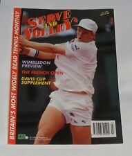 SERVE & VOLLEY THE TENNIS MAGAZINE JULY 1991 -WIMBLEDON PREVIEW/FRENCH OPEN