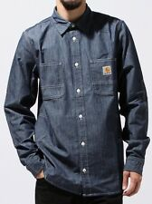 CARHARTT Chemisse L/S MOTOR Shirt SLIM Taille:M Color:BLUE RINSED camisa