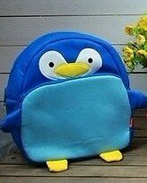 Kid Leather Animal Zoo BackPack Bag - penguin