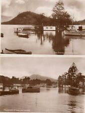 2 Swan Island Houseboats Luss Loch Lomond unused  RP pcs