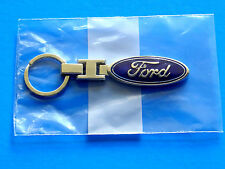 FORD KEYCHAIN KEY RING BLUE OVAL EMBLEM LOGO MUSTANG F150 FUSION FOCUS NEW