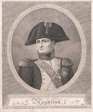 NAPOLEONE BONAPARTE - Incisione Originale 1800 - Napoleon